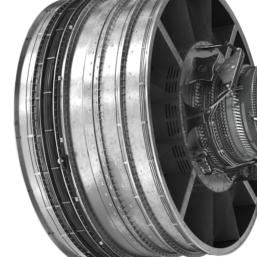 Turbofan Aircraft Engine royalty-free 3d model - Preview no. 23