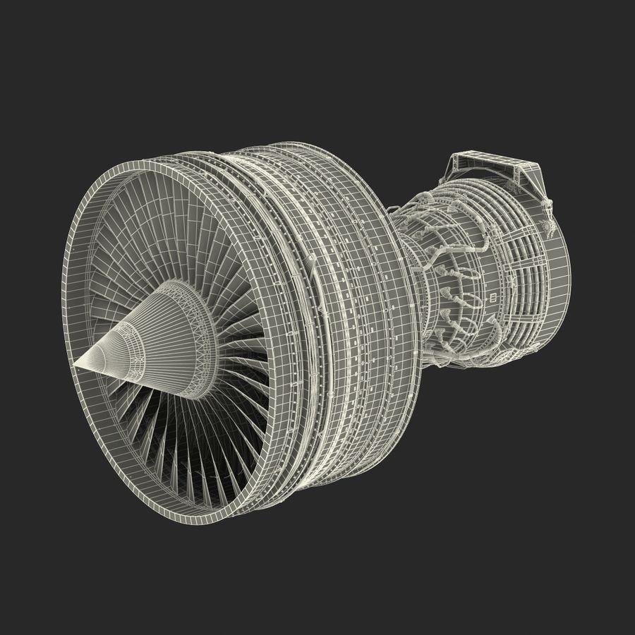 Турбореактивный авиационный двигатель royalty-free 3d model - Preview no. 40