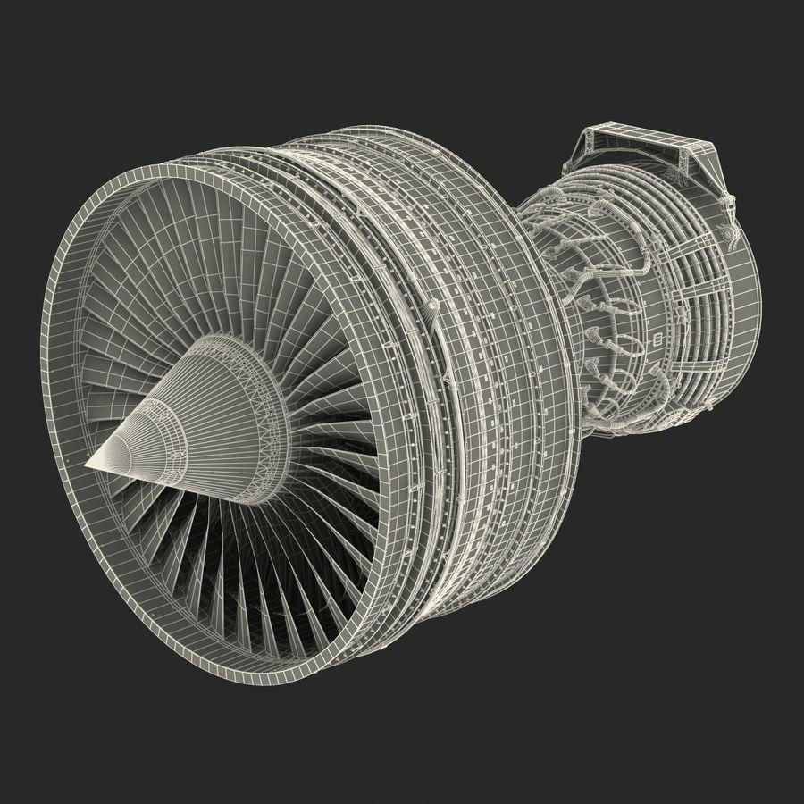 Турбореактивный авиационный двигатель royalty-free 3d model - Preview no. 38