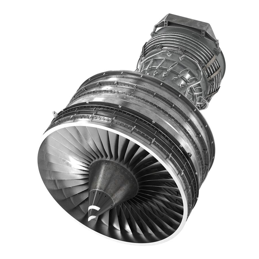 Turbofan Aircraft Engine royalty-free 3d model - Preview no. 8