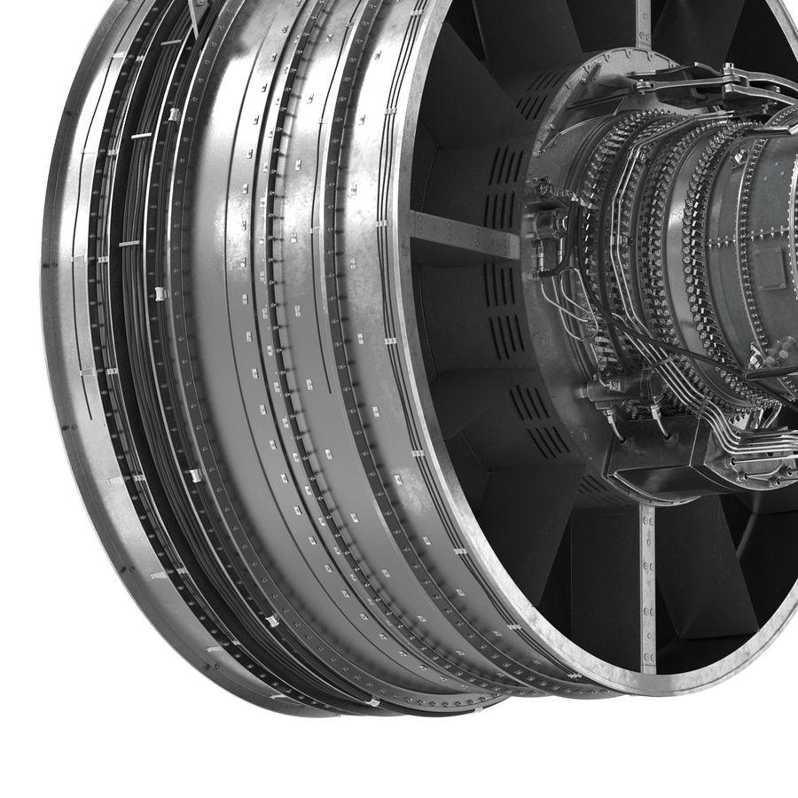 Турбореактивный авиационный двигатель royalty-free 3d model - Preview no. 19