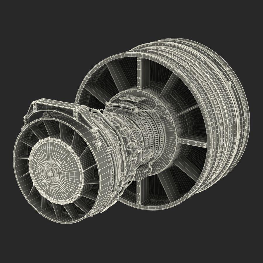 Турбореактивный авиационный двигатель royalty-free 3d model - Preview no. 39