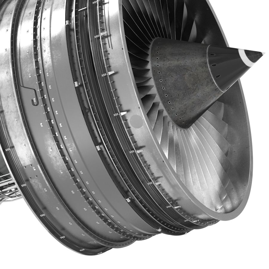 Turbofan Aircraft Engine royalty-free 3d model - Preview no. 20