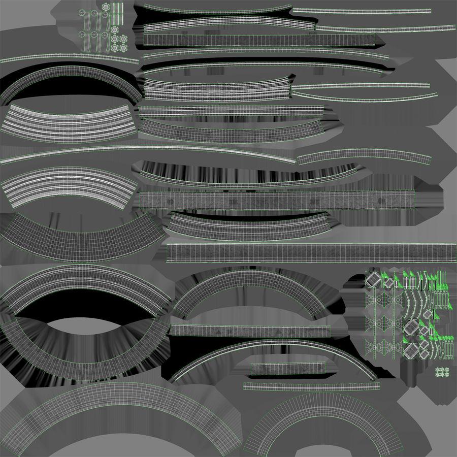 Турбореактивный авиационный двигатель royalty-free 3d model - Preview no. 29
