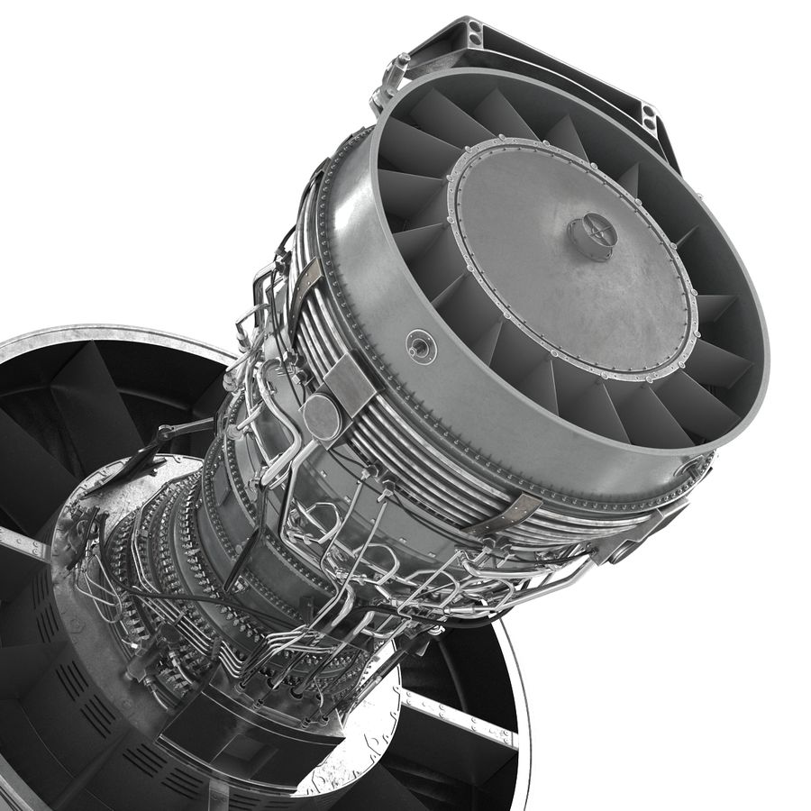 Turbofan Aircraft Engine royalty-free 3d model - Preview no. 18