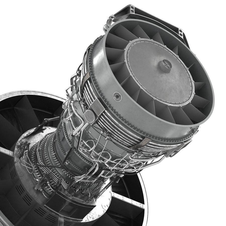 Турбореактивный авиационный двигатель royalty-free 3d model - Preview no. 18