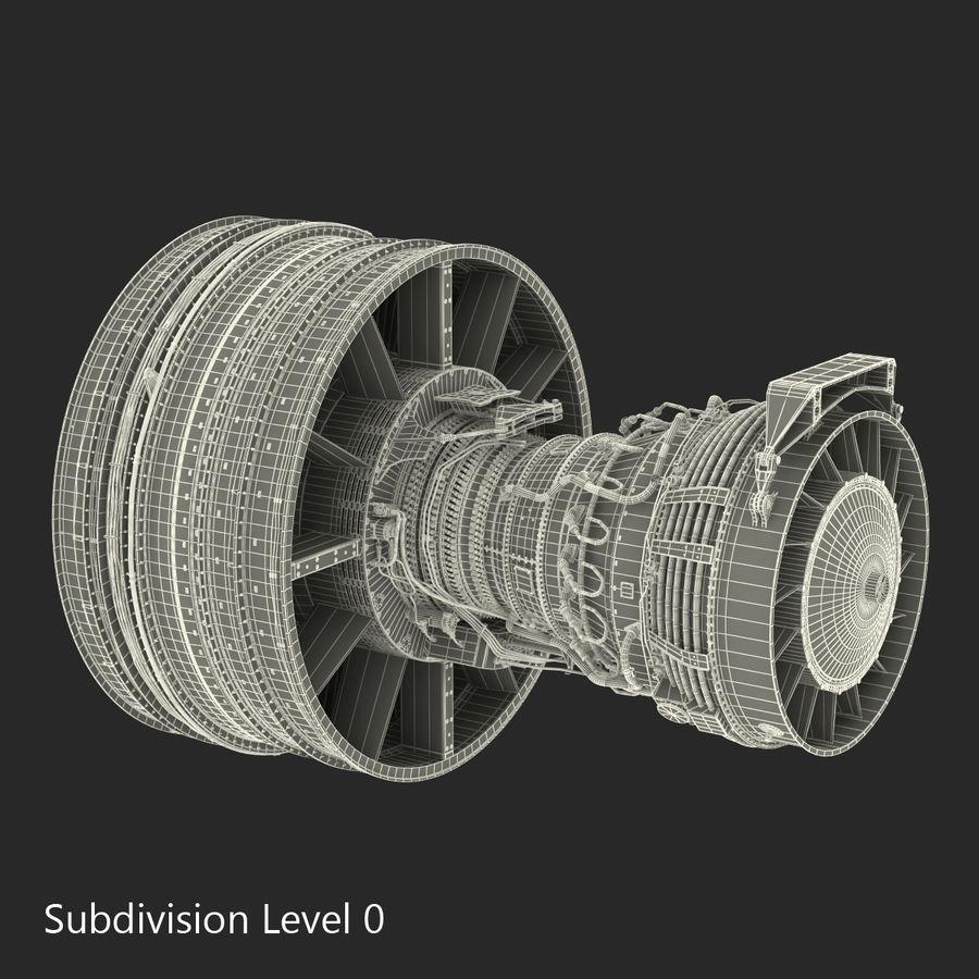 Турбореактивный авиационный двигатель royalty-free 3d model - Preview no. 25