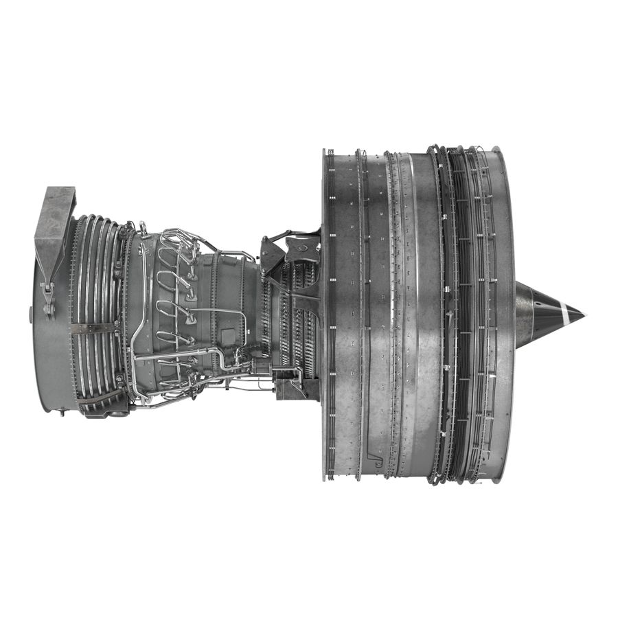 Turbofan Aircraft Engine royalty-free 3d model - Preview no. 5
