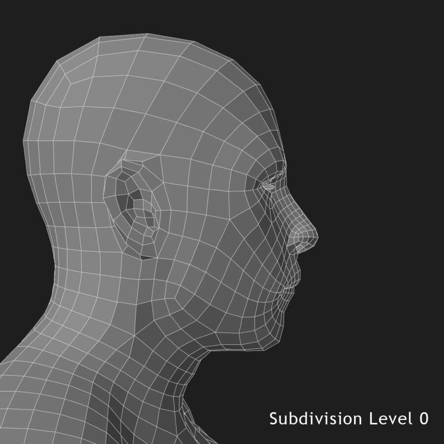 African American man med skelett 3DSmax royalty-free 3d model - Preview no. 25
