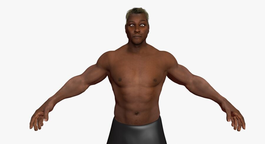 African American man med skelett 3DSmax royalty-free 3d model - Preview no. 7
