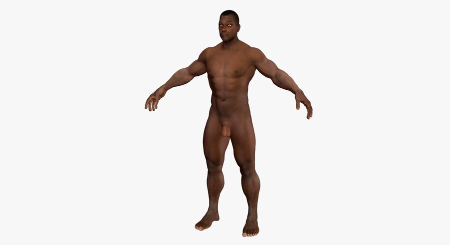 African American man med skelett 3DSmax royalty-free 3d model - Preview no. 12