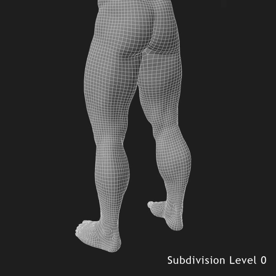 African American man med skelett 3DSmax royalty-free 3d model - Preview no. 28