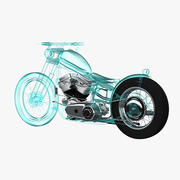Motorcycle X-Ray 3d model