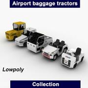 Colección de tractores de equipaje modelo 3d