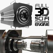 Komponenty Sci FI 3d model