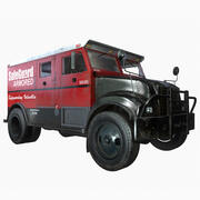 Armored Truck - Game Ready 3d model