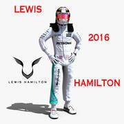 2016年ルイスハミルトン 3d model