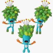 2016 Olympic Mascot Tom Poses 3d model