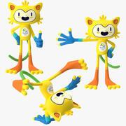 2016年奥运会吉祥物Vinicius姿势 3d model