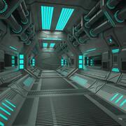 Sci Fi 터널 3d model