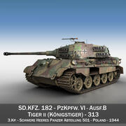 Panzerkampfwagen VI-Ausf B-Tiger II-313 3d model