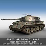Panzerkampfwagen VI-Ausf B-Tiger II-124 3d model