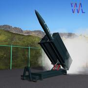 Wyrzutnia rakiet Lora 3d model