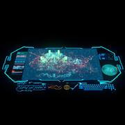 Hologram stad 3d model