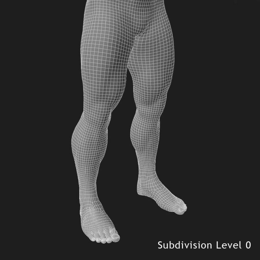Man med skelett 3DSmax royalty-free 3d model - Preview no. 31