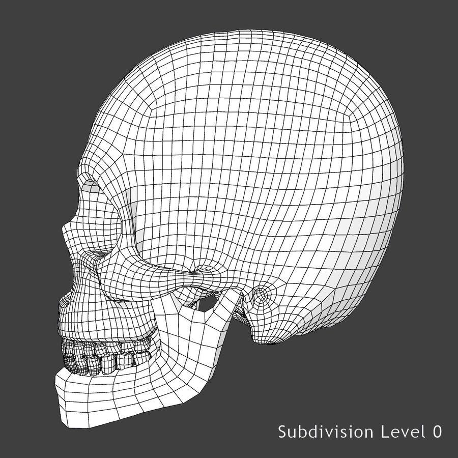 Man med skelett 3DSmax royalty-free 3d model - Preview no. 25