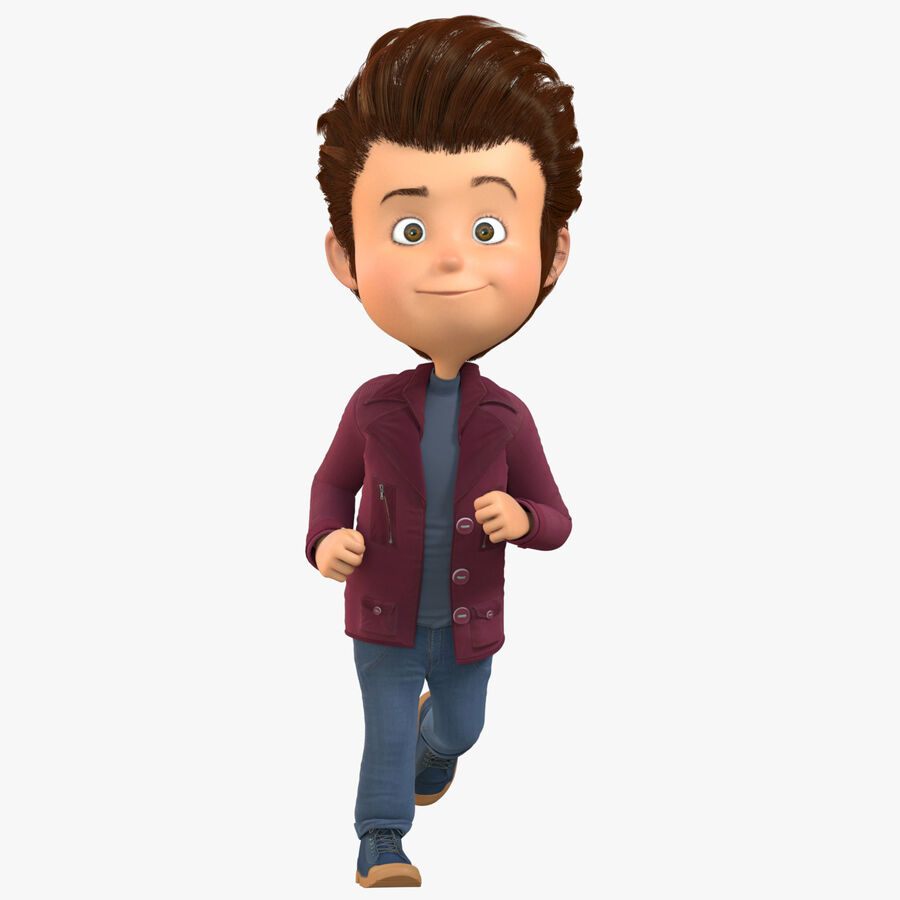 Cartoon Character Boy Rigged royalty-free 3d model - Preview no. 1