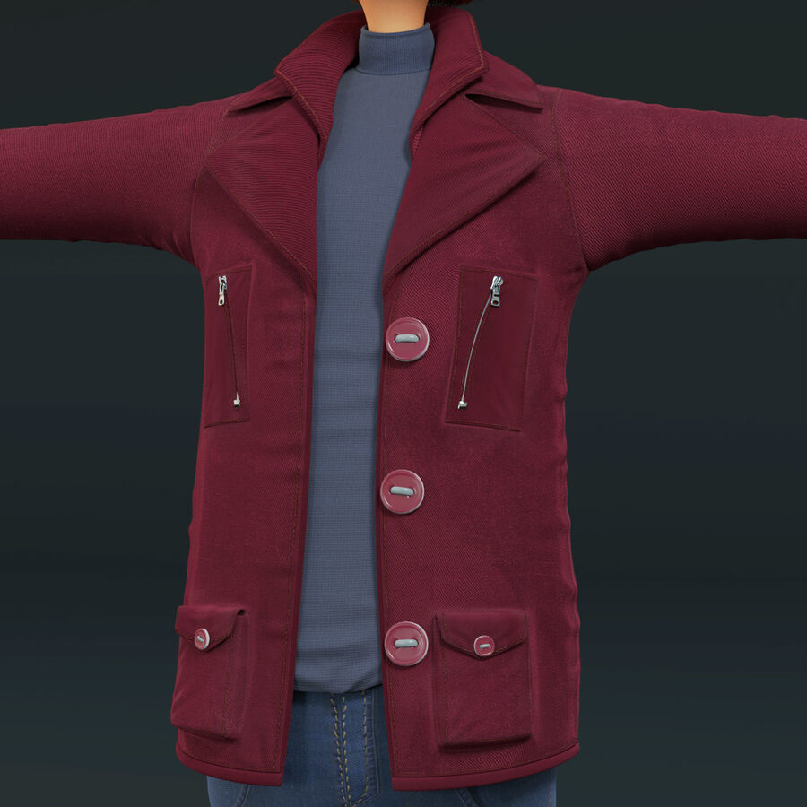 Cartoon Character Boy Rigged royalty-free 3d model - Preview no. 5
