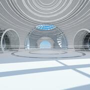 Futuristic Architectural Structure 4 3d model