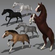 Animerad häst 3d model