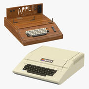 Apple I und Apple IIe 3d model