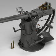 İkiz 40mm Bofors düşük poli 3d model