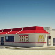 McDonald's Restaurant met meubilair 3d model