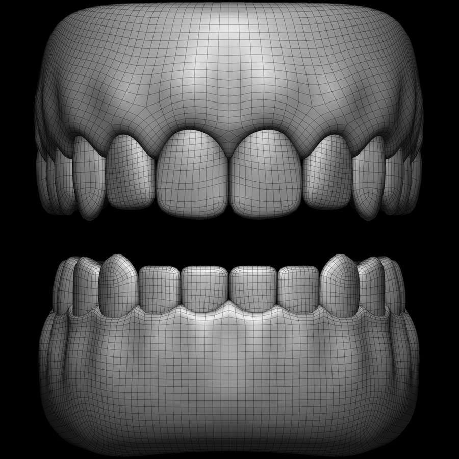 Zęby royalty-free 3d model - Preview no. 12