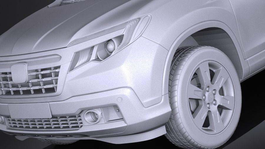 Honda Ridgeline 2017 royalty-free 3d model - Preview no. 10