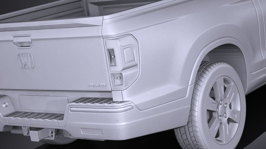 Honda Ridgeline 2017 royalty-free 3d model - Preview no. 11