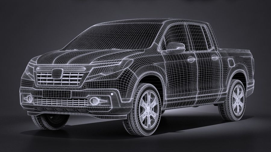Honda Ridgeline 2017 royalty-free 3d model - Preview no. 13