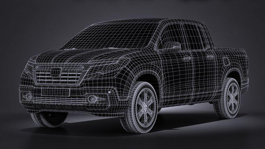 Honda Ridgeline 2017 royalty-free 3d model - Preview no. 15