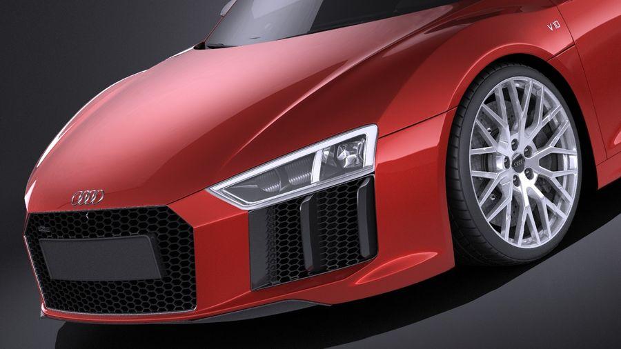 Audi R8 V10 Plus 2017 royalty-free 3d model - Preview no. 3