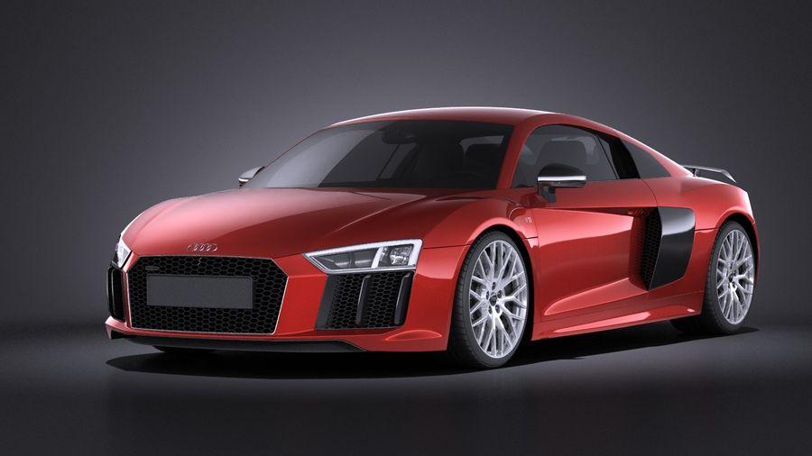 Audi R8 V10 Plus 2017 royalty-free 3d model - Preview no. 1
