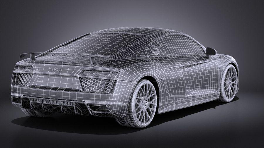 Audi R8 V10 Plus 2017 royalty-free 3d model - Preview no. 16