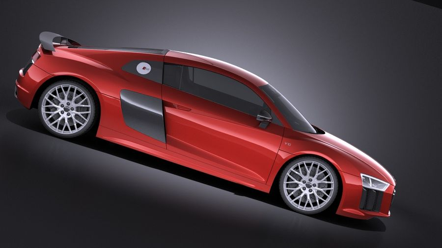 Audi R8 V10 Plus 2017 royalty-free 3d model - Preview no. 7