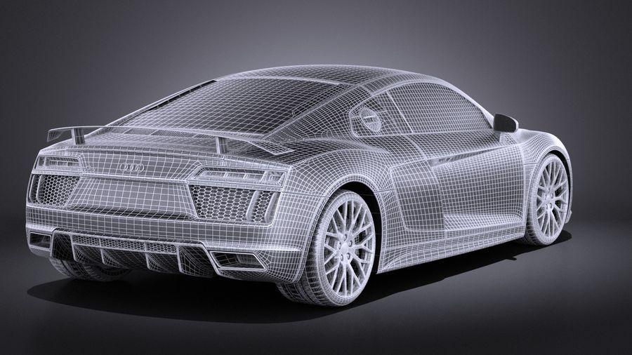 Audi R8 V10 Plus 2017 royalty-free 3d model - Preview no. 14