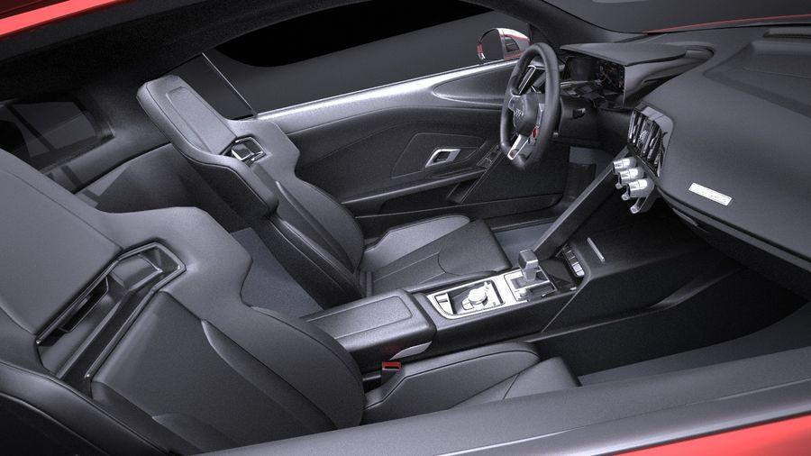 Audi R8 V10 Plus 2017 royalty-free 3d model - Preview no. 12