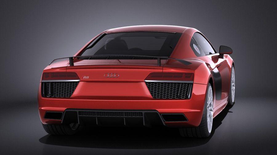 Audi R8 V10 Plus 2017 royalty-free 3d model - Preview no. 5