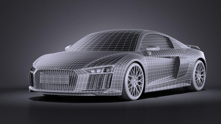 Audi R8 V10 Plus 2017 royalty-free 3d model - Preview no. 15